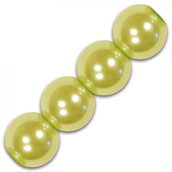 Wachsperlen 6mm 60 St. hellgrün Kunststoff, Lochgr. ca. 1mm