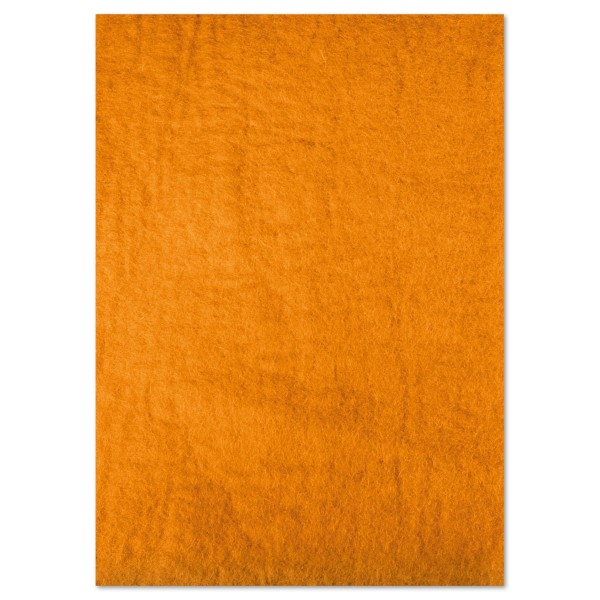 Naturfilzplatte ca. 5mm 50x70cm ockergelb 100% Wolle