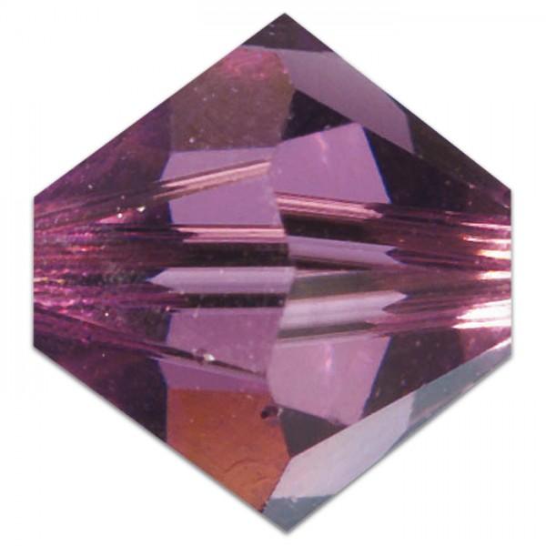 Glasschliffperlen 6mm 12 St. amethyst Swarovski, Lochgr. ca. 0,9mm
