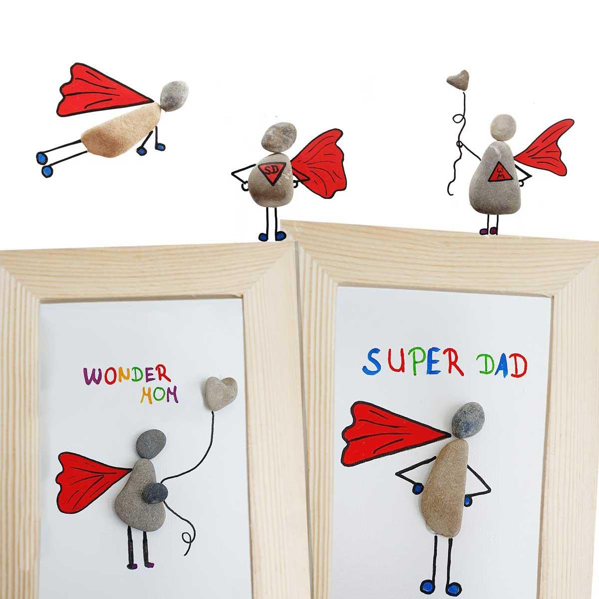 Hier kommen Super-Dad und Wonder-Mom!