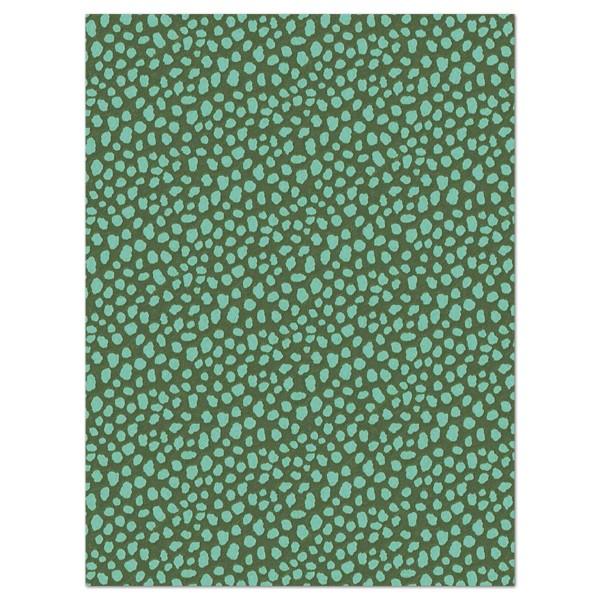 Decoupagepapier Tierfelloptik dunkelgrün von Décopatch, 30x40cm, 20g/m²