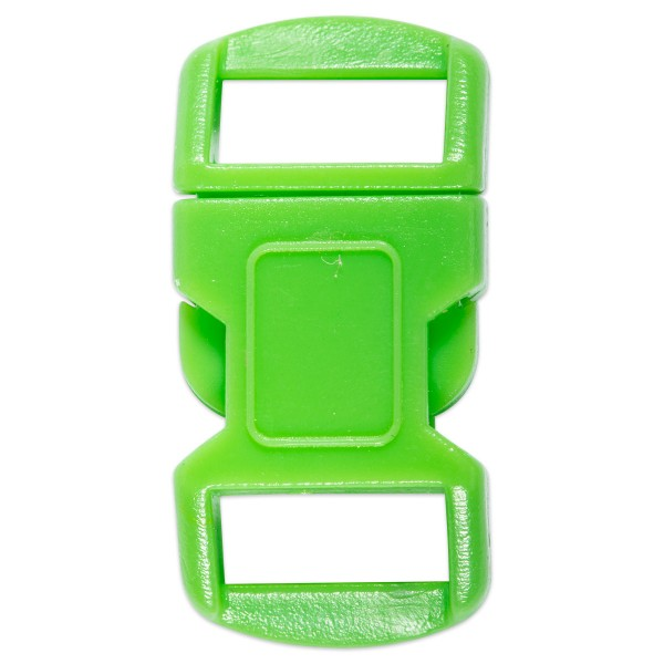 Steckverschluss Kunststoff 15x30mm grün
