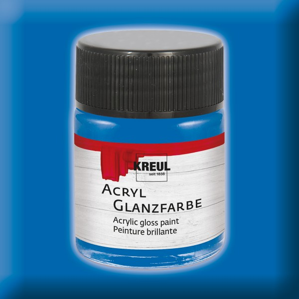 Acryl-Glanzfarbe 50ml blau