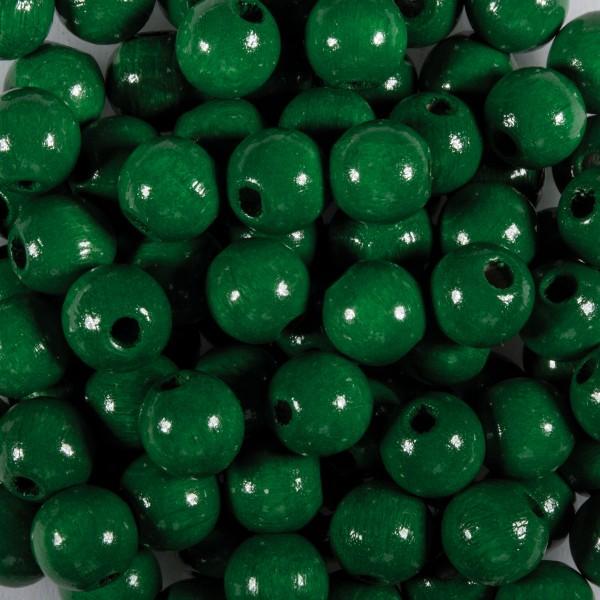 Holzperlen 10mm 50 St. grün Lochgröße ca. 2,5mm