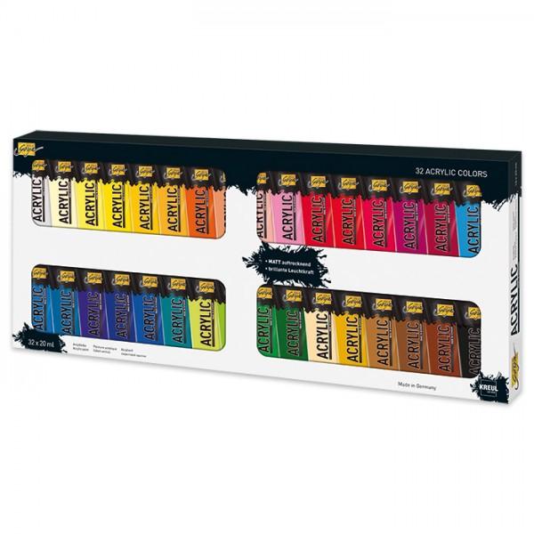 SOLO GOYA Acrylic 32 Farben à 20ml Acrylfarbe