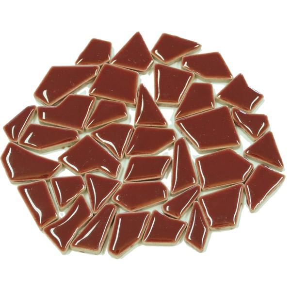 Flip-Keramik Mini 200g ca. 160 Steine altrosa 5-20mm, ca. 4mm