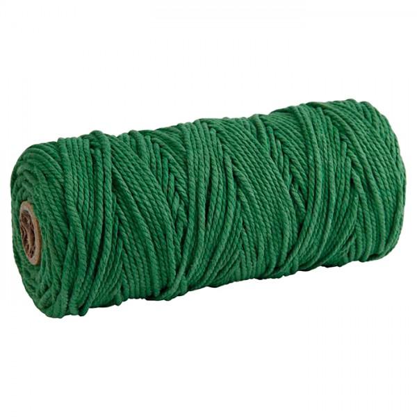 Baumwollkordel 2mm 225g ca. 100m grün 85% Baumwolle, 15% Polyester