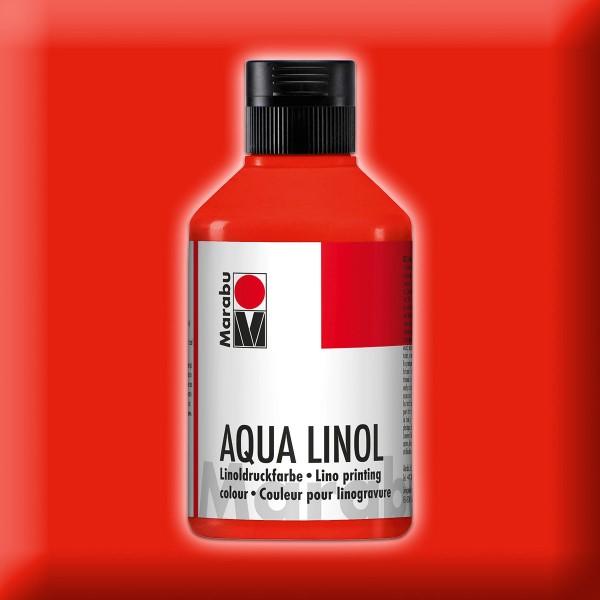 Aqua Linoldruckfarbe 250ml zinnoberrot