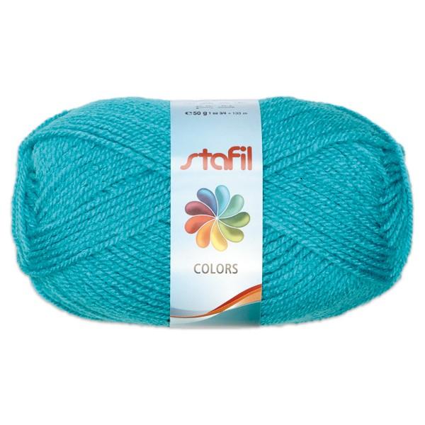 Wolle Colors 50g türkis LL ca.133m, Nadel Nr. 3, 100% Polyacryl