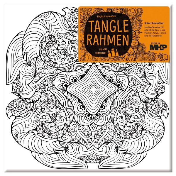 Tangle-Keilrahmen 20x20x2cm Touch of India