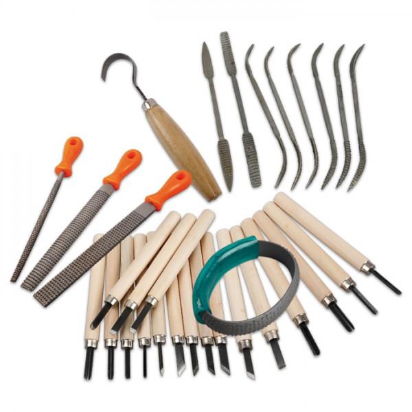 Speckstein-Werkzeugset 31-teilig