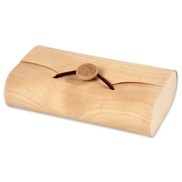 Holzkästchen in Kuvertform 13x8x3,5cm natur