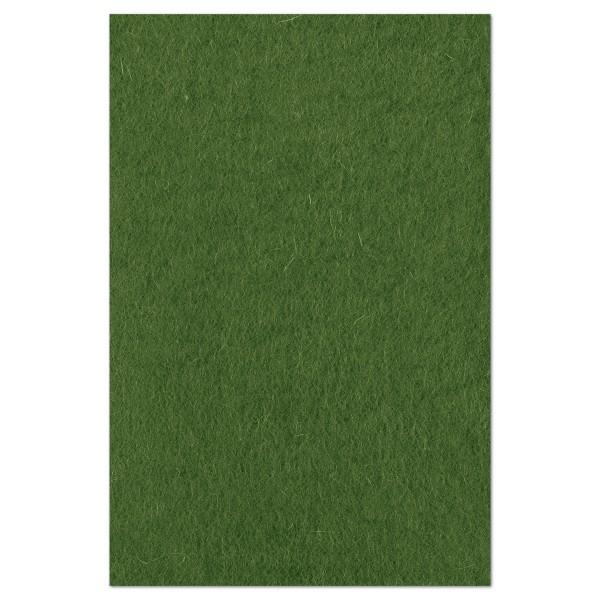 Wollfilz ca. 1-1,2mm 20x30cm dunkelgrün 100% Wolle