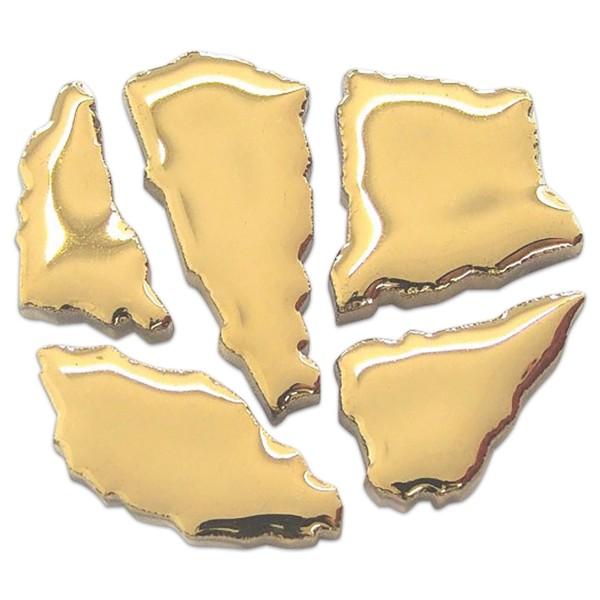 Flip-Keramik 2-6cm 3kg ca. 260 Steine deluxe goldfarben ca. 6,5mm