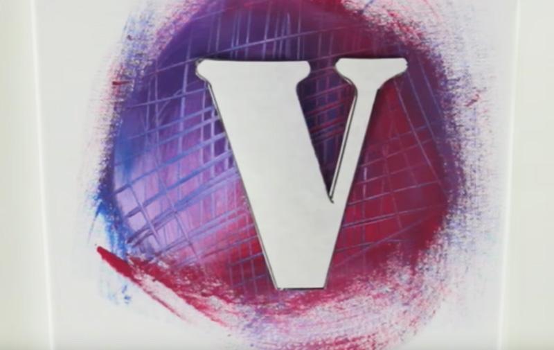 """Video Schablonieren Keilrahmen """"LOVE"""" - """"V"""" mit 3D-Technik"""