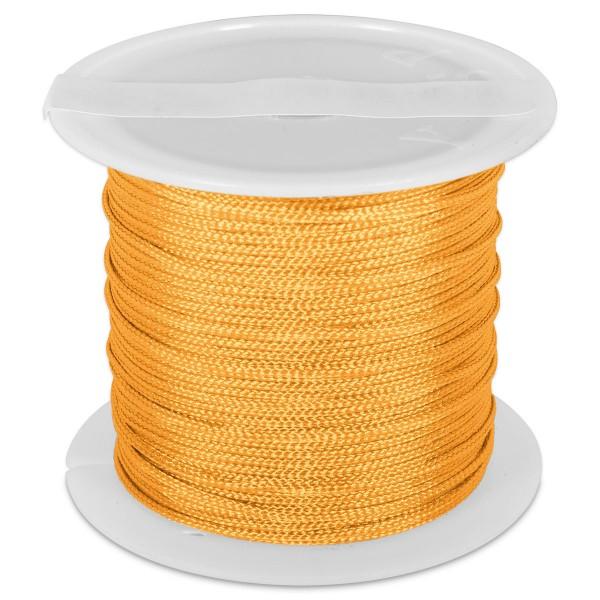 Knüpfgarn glänzend 1mm 5m neonorange 100% Polyester
