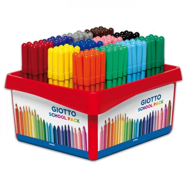 Giotto Turbo Color 144 Fasermaler/12 Farben Strichbreite 2,8mm