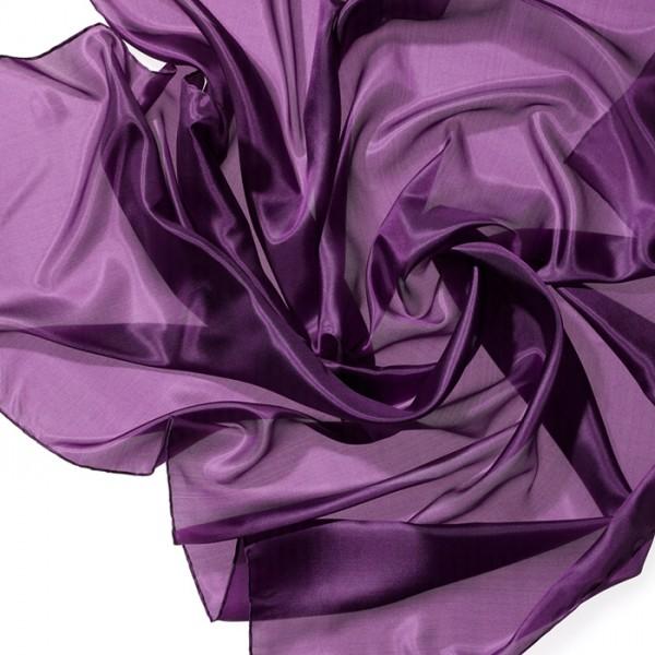Tuch Seide Pongé 05 90x90cm violett 100% Seide