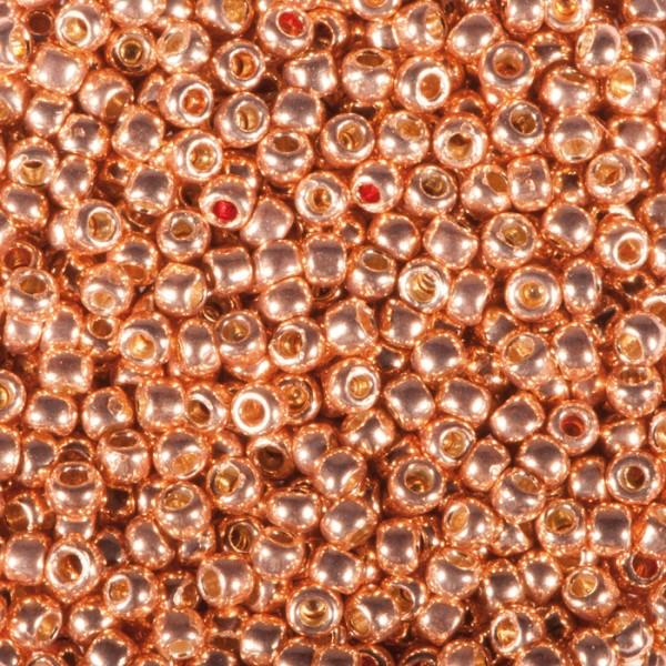 TOHO-Beads Glas 2,2mm 9g kupferfarben metallic Lochgr. ca. 0,9mm