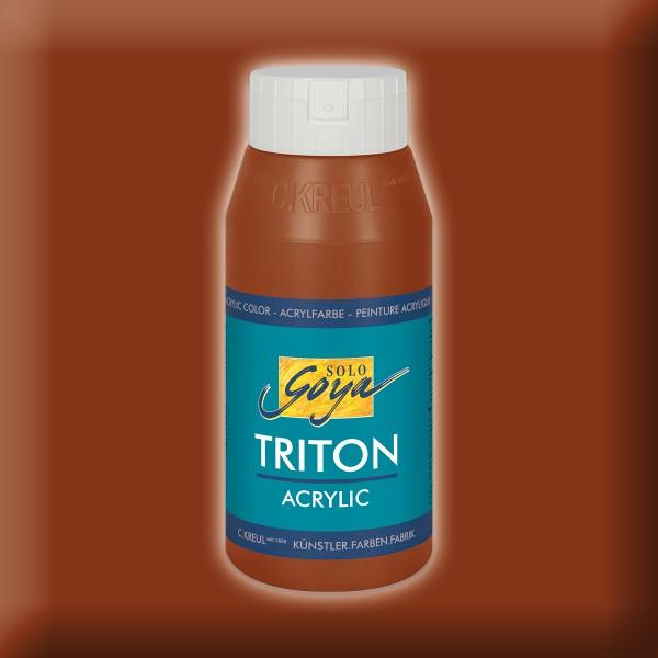 Triton Acrylfarbe 750ml oxydbraun dunkel