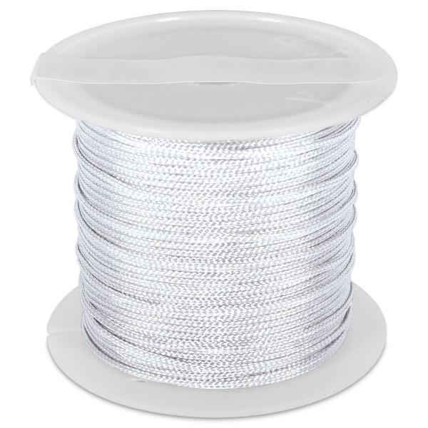 Knüpfgarn glänzend 1mm 5m weiß 100% Polyester