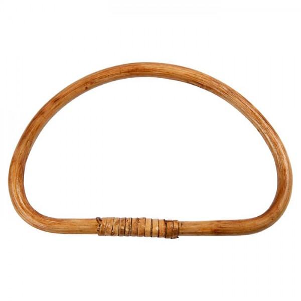 Taschengriff heller Bambus 20x13cm 1 St. halbrund, leicht lackiert