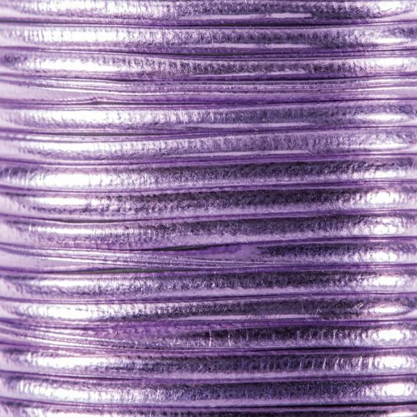 Metallic-Kordel Synthetik 2mm 2m lila