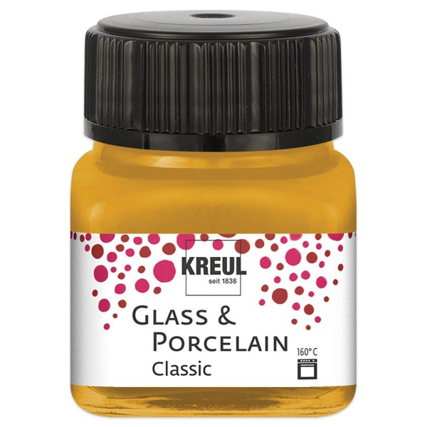 Glass & Porcelain Classic 20ml metallic-gold brillant glänzend
