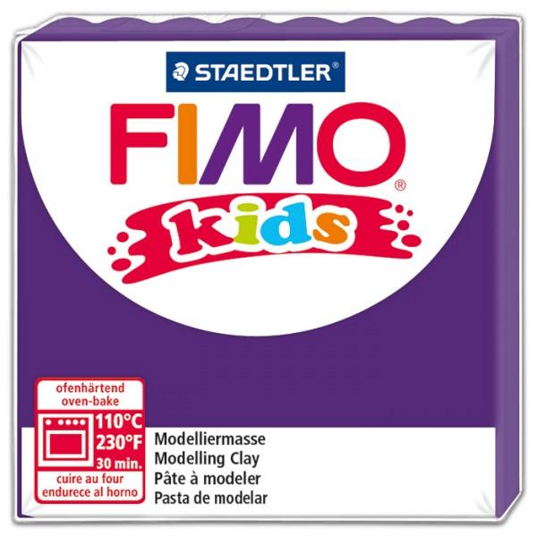 FIMO kids 55x55x10mm 42g violett ofenhärtende Modelliermasse
