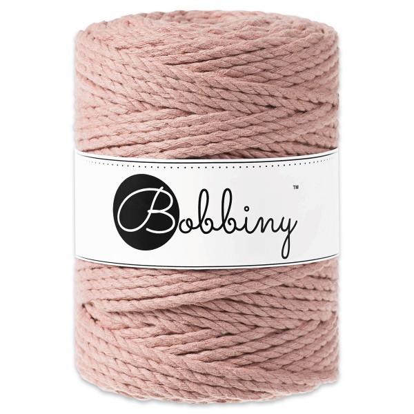 Bobbiny 3PLY Makramé-Kordel Ø5mm blush ca. 700g-800g, 100% Baumwolle, LL 100m, 3x60 Fasern