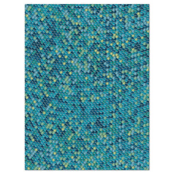 Decoupagepapier Schuppen blau/grün von Décopatch, 30x40cm, 20g/m²