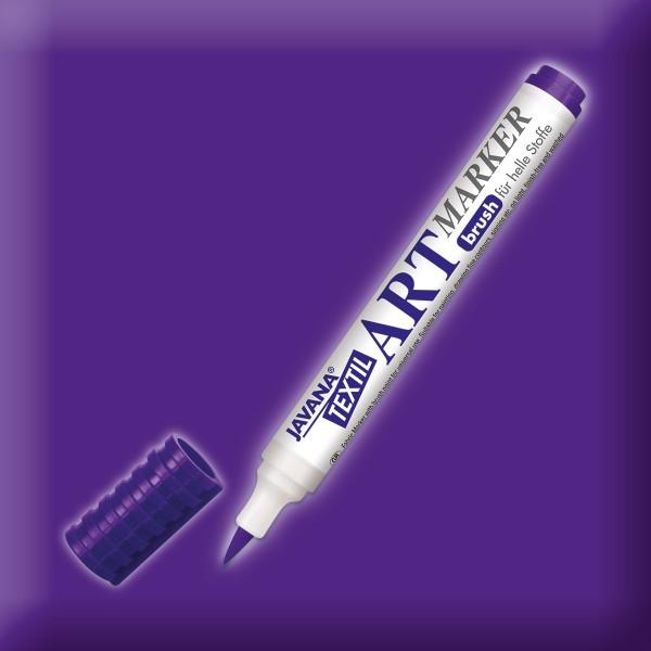JAVANA Textil Artmarker violett mit Pinselspitze