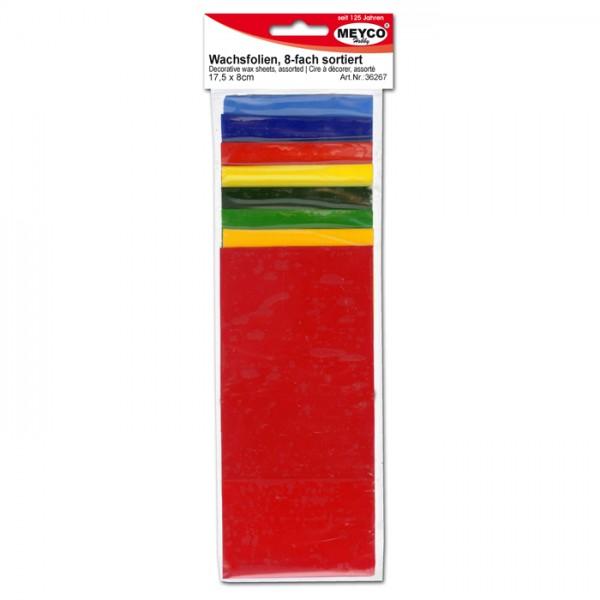 Verzierwachs 175x80x0,5mm 8 St./Farben bunt