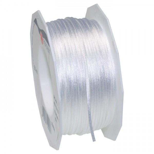Satinschnur 2mm 50m weiß 100% Polyester