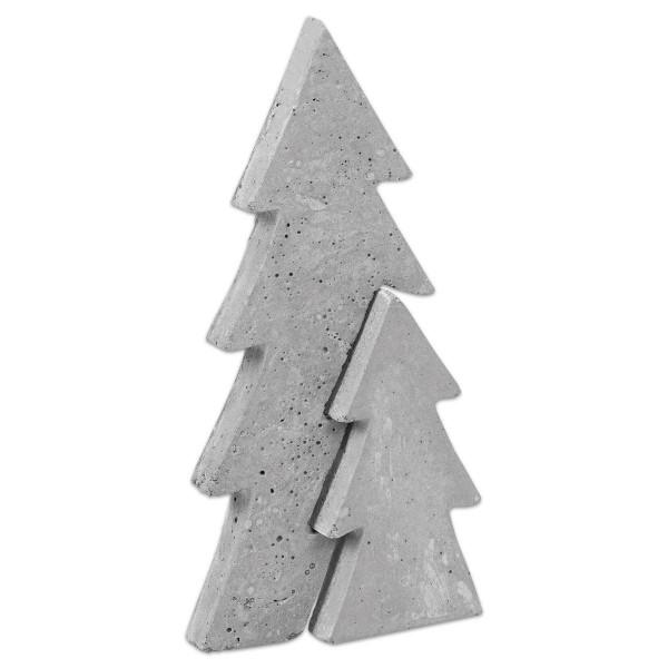 Gießform Tannenbaum ca. 14x29x2,7cm 2-teilig Kunststoff