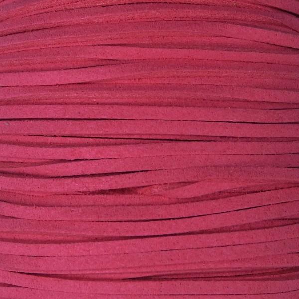 Veloursband textil 1,5 stark 3mm breit 5m dunkelrosa 100% Polyester
