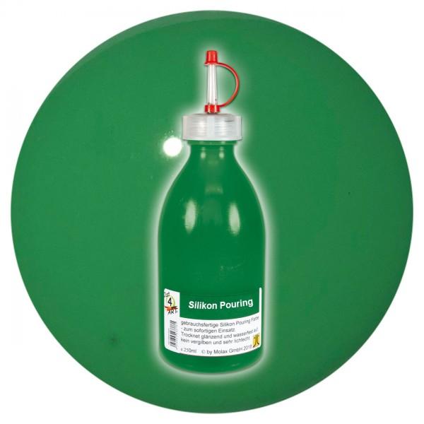 Just4Art Silikon Pouring Farbe 250ml strahlend grün mit Spritzdüse