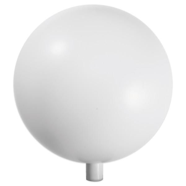 Kunststoffkugeln Ø 18cm weiß Aufsteckstutzen für Rundstab 16mm