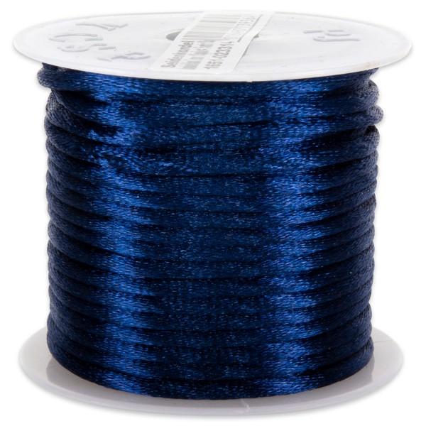 Seidenschnur glänzend 2mm 5m dkl.blau 100% Polyester