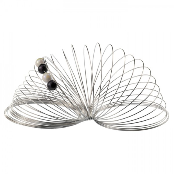 Halsreif-Spirale 0,7mm 30g ca. 35 Umdrehungen Edelstahl, platinfarben