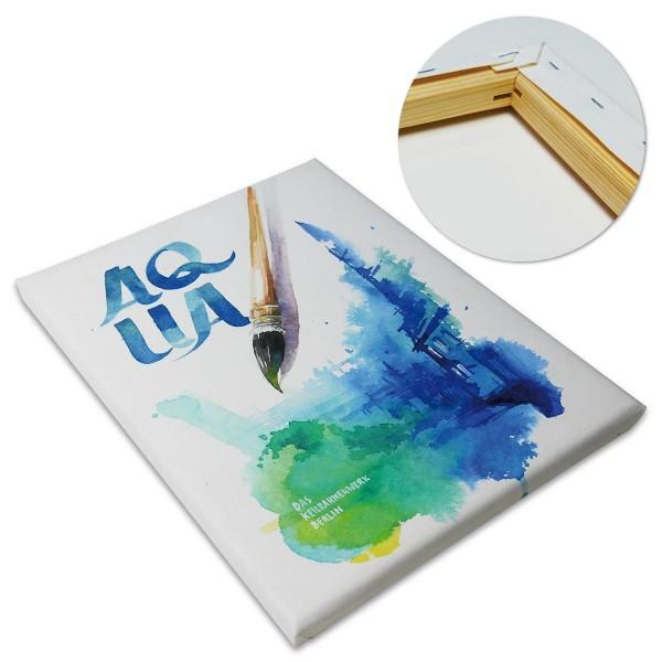 Aqua Keilrahmen 40x50cm matt naturweiß für Aquarell-, Acryl-, Gouache- & Temperatechniken