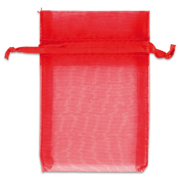 Organzabeutel 7x10cm 10 St. rot Nylon, mit Zugband