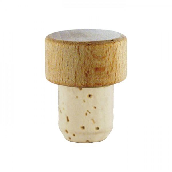 Korken mit Holzgriff Größe I/13mm natur