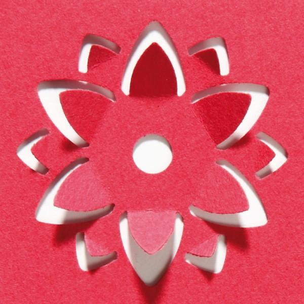 Pop-Up-Locher groß Ø ca. 38mm Blume geeignet für Papiere 80-120g/m²