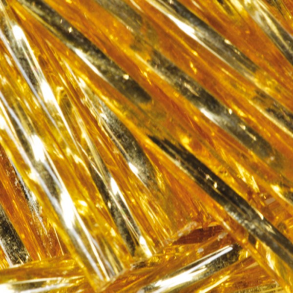 Glasstifte gedreht 15mm 13g goldfarben Lochgr. ca. 0,7mm