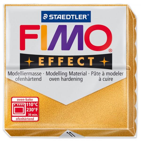FIMO effect 55x55x15mm 57g metallic goldfarben ofenhärtende Modelliermasse