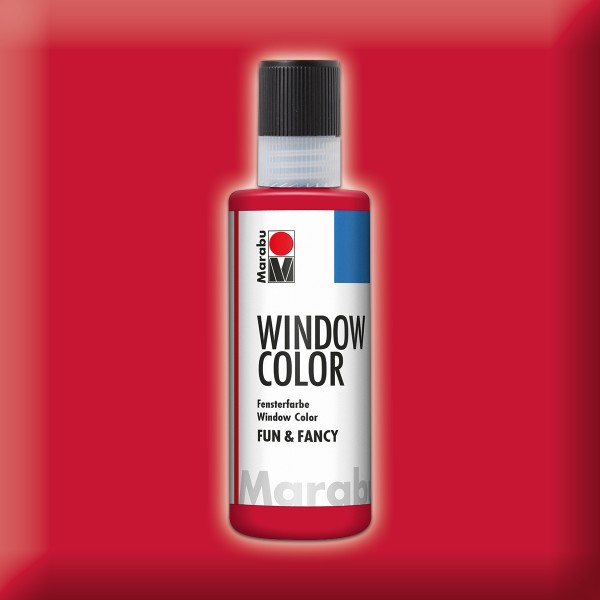 Marabu fun&fancy 80ml rubinrot Windowcolor