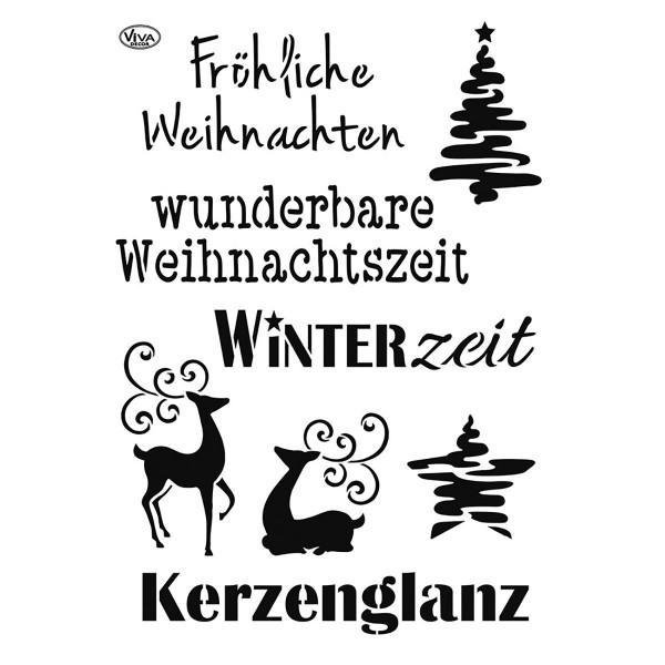 Universal-Schablone DIN A4 weihnachtliche Motive&Schriften Kunststoff