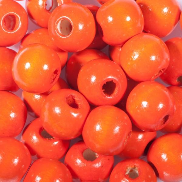 Holzperlen 10mm 56 St. orange Lochgr. ca. 2mm