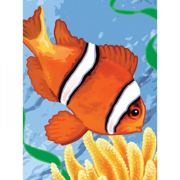 Malen nach Zahlen 22,2x29,8cm Clownfisch